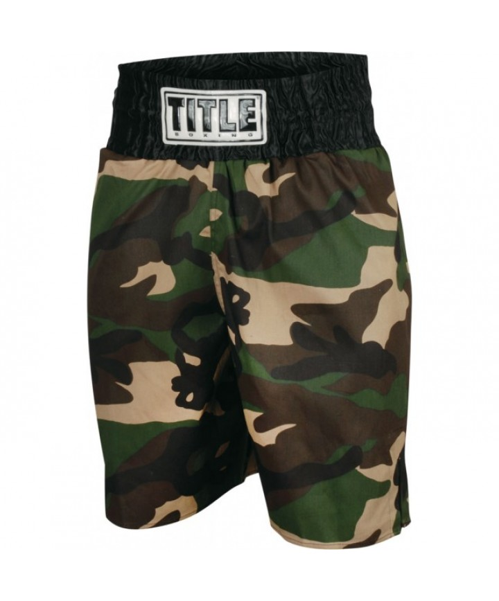 201b870462191 TITLE STOCK BOXING TRUNKS (ARMY CAMO) - Boxing Trunks - Shorts ...